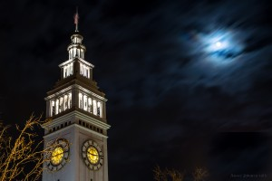 Moon Over The Ferry Building